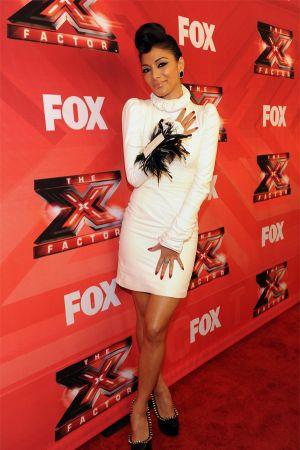 Nicole Scherzinger at X-Factor top 3 performance show