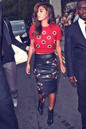 Nicole Scherzinger attends Matthew Williamson show during London Fashion Week