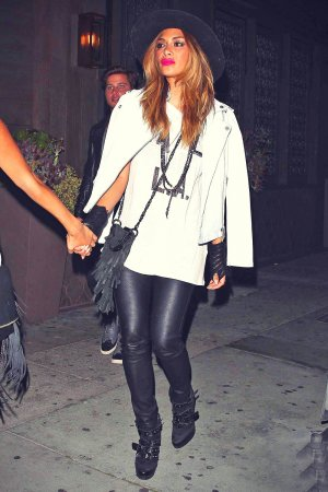 Nicole Scherzinger dinner at Toca Madera