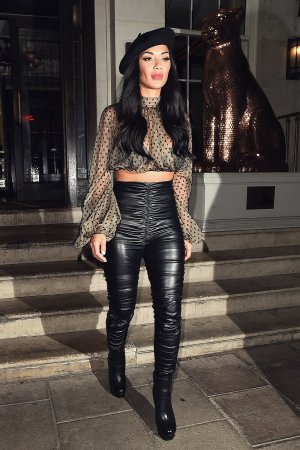 Nicole Scherzinger leaving 34 Restaurant