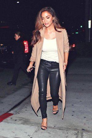 Nicole Scherzinger leaving E Baldi Restaurant