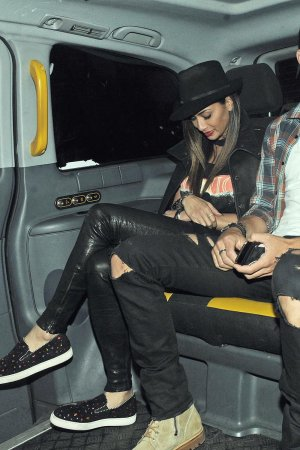 Nicole Scherzinger leaving Sketch Restaurant
