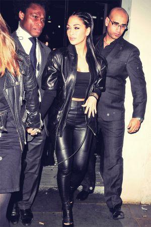 Nicole Scherzinger leaving STK restaurant