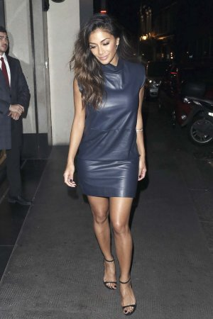 Nicole Scherzinger leaving The Ivy nightclub
