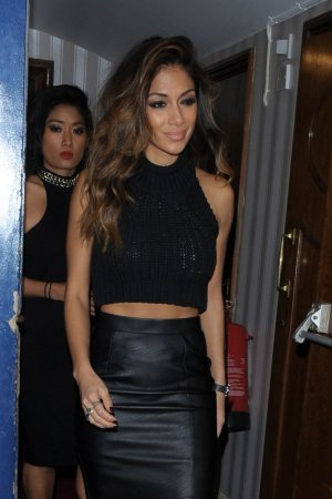 Nicole Scherzinger leaving the Palladium Theatre