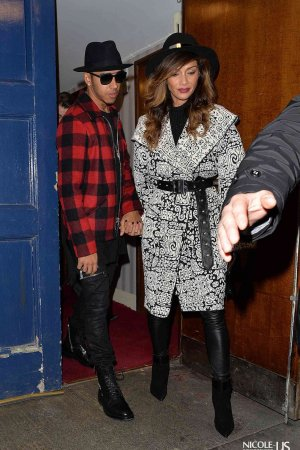 Nicole Scherzinger & Lewis Hamilton leaving the London Palladium Theatre