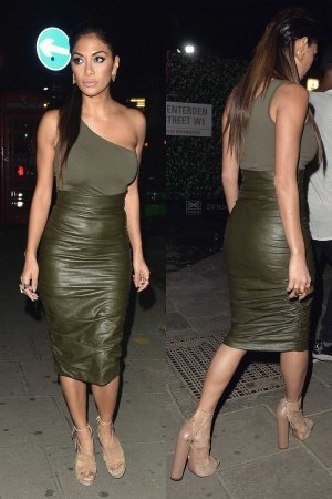 Nicole Scherzinger out in London