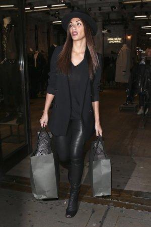 Nicole Scherzinger seen shopping at All Saints Regent St Store