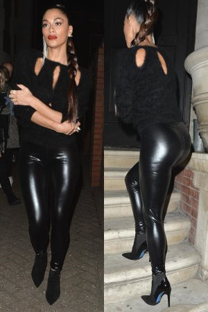 Nicole Scherzinger spotted out and about in Mayfair