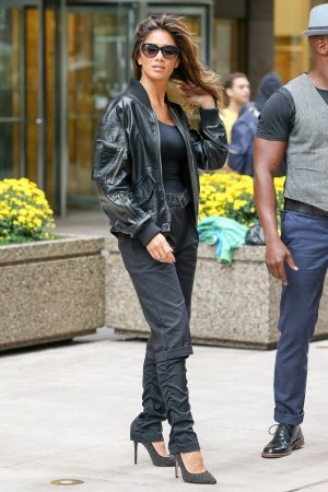 Nicole Scherzinger was spotted leaving SiriusXM Radio New York