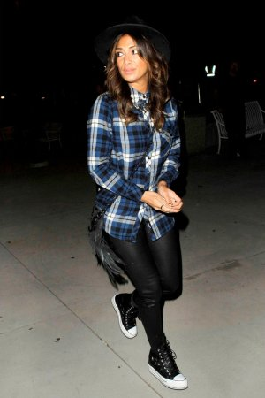 Nicole Scherzinger was spotted leaving the Sam Smith concert
