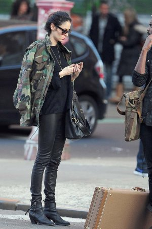 Nicole Trunfio and Gary Clark Jr are seen in the Lower East Side
