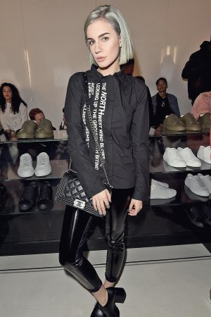 Nikita Adrianova attends the Axel Arigato London store launch