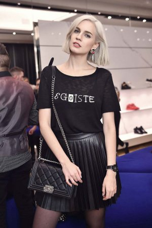 Nikita Endrianova attends Giuseppe Zanotti Design Flagship Store Opening