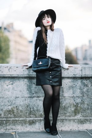 Nikita Wong street fashion in Paris