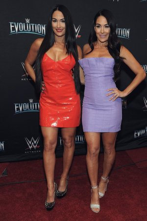 Nikki & Brie Bella attend WWE's first ever all-women's event
