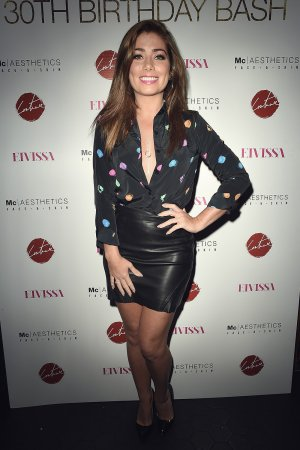 Nikki Sanderson attends The Thomas Twins 30th Birthday Party