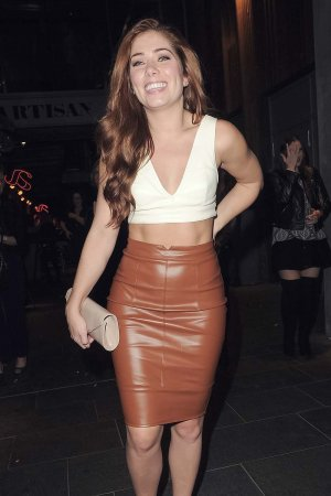 Nikki Sanderson out and about in Manchester