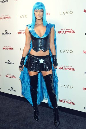 Nina Agdal attends Heidi Klum Halloween Party