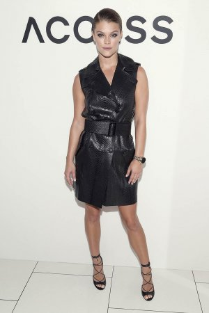Nina Agdal attends Michael Kors Celebrates the New Access Smartwatch Collection