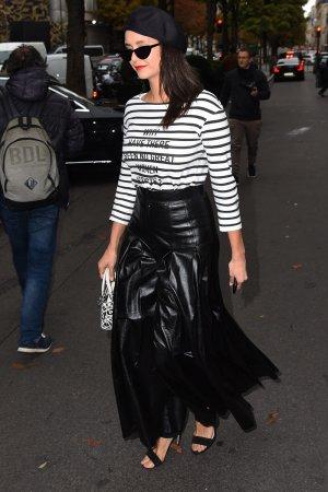 Nina Dobrev seen leaving the George V Hotel
