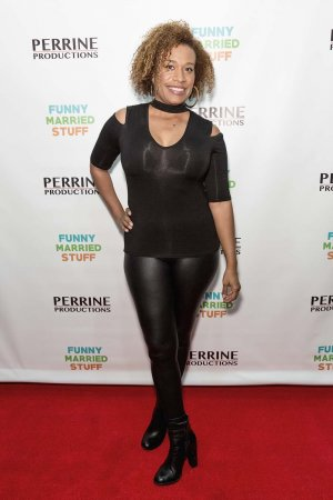 Norette Prettyman arrives for the Screening Of Perrine Productions' 'Funny Married Stuff'