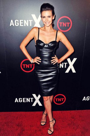 Olga Fonda attends the premiere of TNT's Agent X