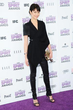 Olga Kurylenko arrives at the 2012 Film Independent Spirit Awards at Santa Monica