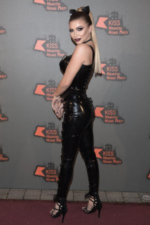 Olivia Buckland attends the Kiss FM Haunted House Party