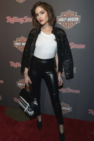 Olivia Culpo attends as Harley-Davidson celebrates the Black Label Collection