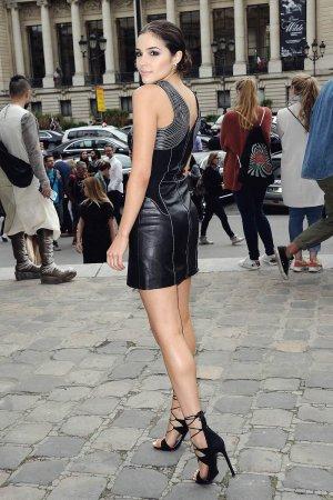 Olivia Culpo attends Mugler Womenswear show