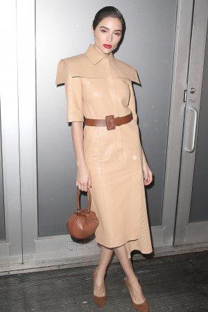 Olivia Culpo attends the Stuart Weitzman party