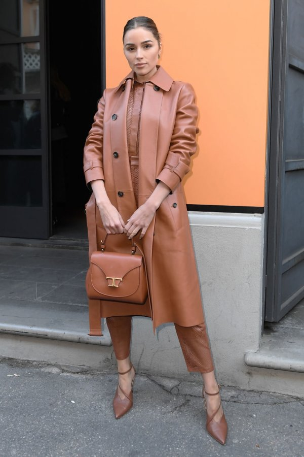 Olivia Culpo attends the Tod's show at Milan Fashion Week