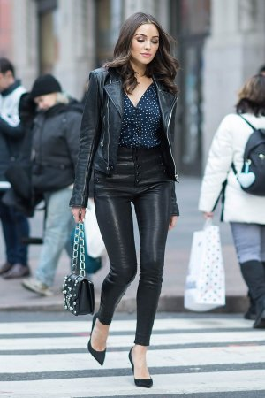 Olivia Culpo is seen in Midtown