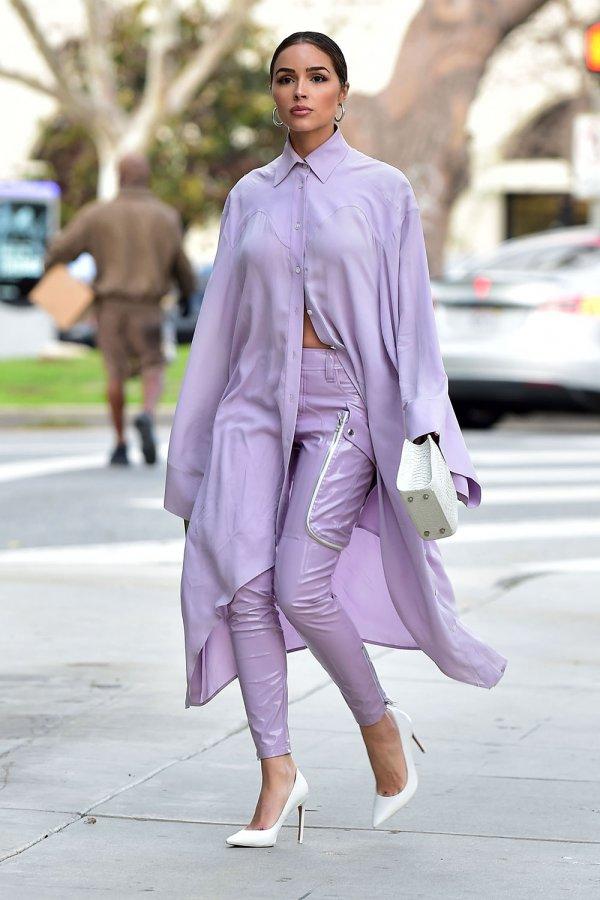 Olivia Culpo leaving a meeting