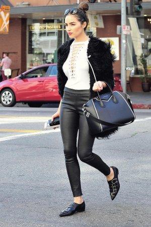 Olivia Culpo leaving an Office Building
