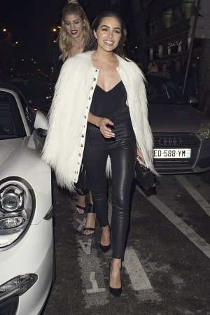Olivia Culpo out during Paris Fashion Week