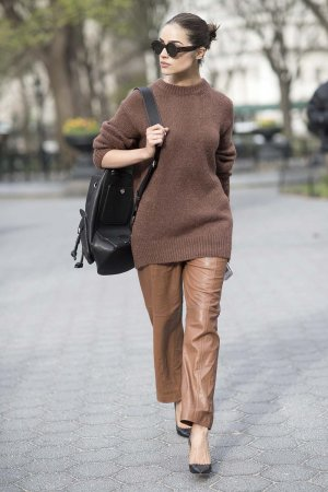 Olivia Culpo Street Style in New York City