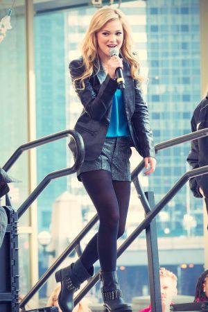 Olivia Holt attends Magnificent Mile Lights Festival 2012