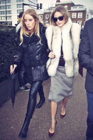 Olivia Palermo attends Burberry Prorsum Womenswear AW 2014 fashion show