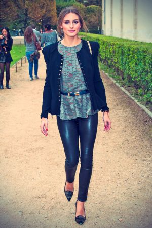 Olivia Palermo attends Elie Saab SS14 Paris Fashion Week