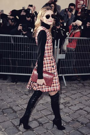 Olivia Palermo attends Paris Fashion Week