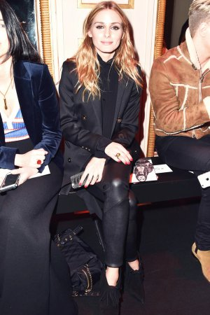 Olivia Palermo attends the Balmain show