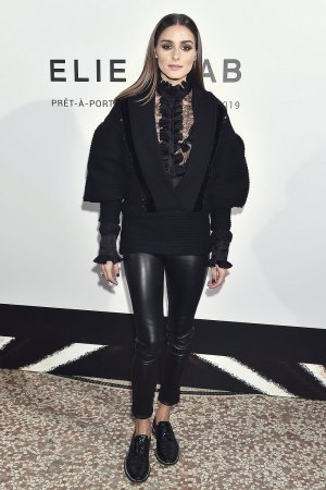 Olivia Palermo attends the Elie Saab show