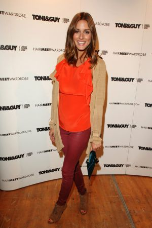 Olivia Palermo attends the Toni & Guy London Fashion Week Hair Show at Somerset House in London
