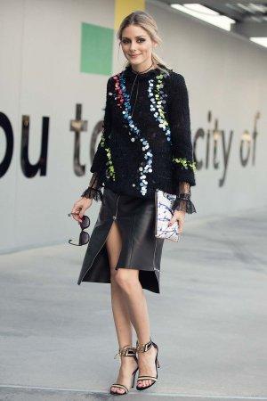 3633c784aa Olivia Palermo Leather Skirt - Leather Celebrities
