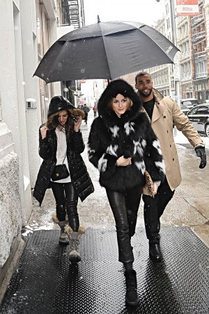 Olivia Palermo is seen walking in Soho
