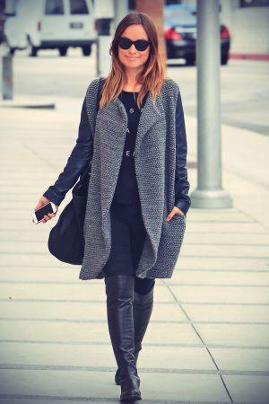 Olivia Wilde walking in Beverly Hills