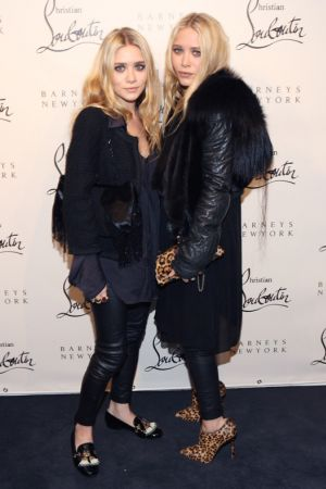 Olsen Twins at Christian Louboutin Cocktail party in NYC