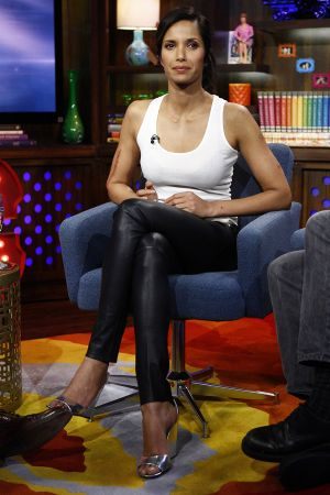 Padma Lakshmi attends a taping of Watch what happens live in NY